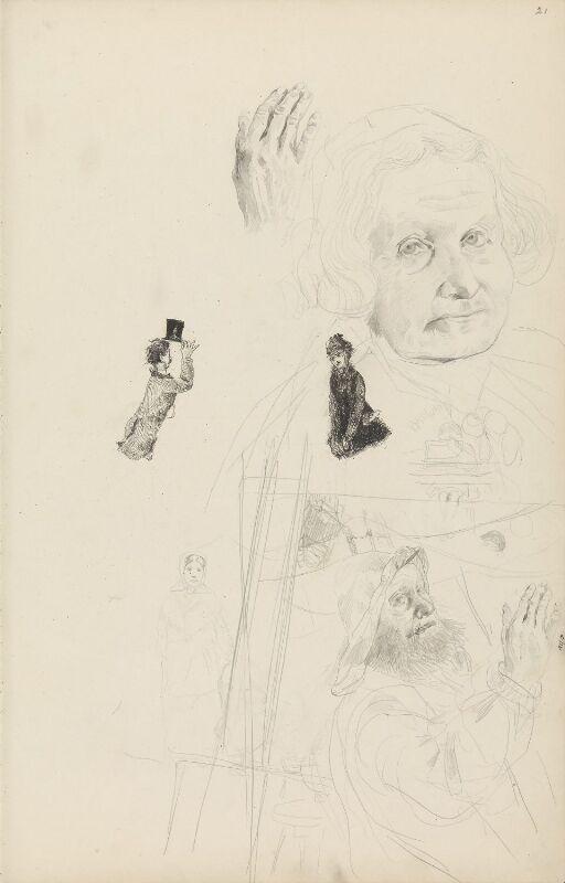 Figur- og portrettstudier; Babord litt