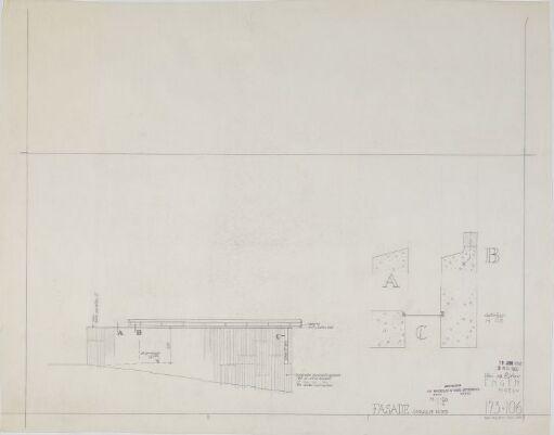 Hus for Engen. Garasje, fasade og detaljer