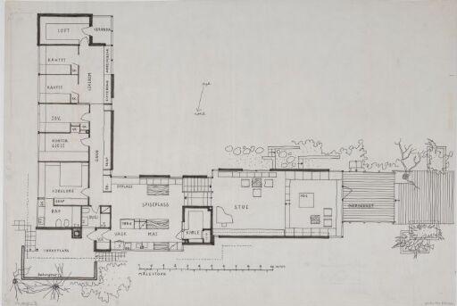 Hus for Engen. Første etasje