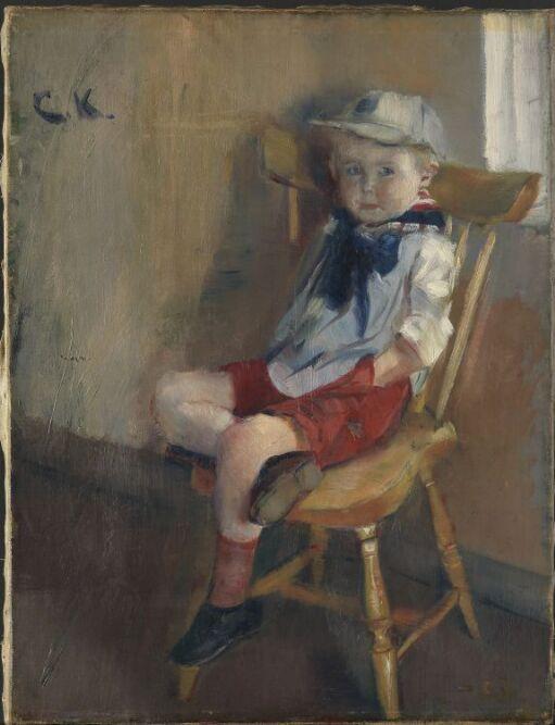 Gutt på pinnestol