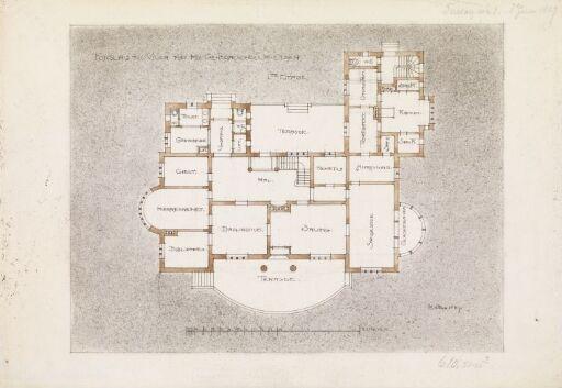 Villa Otium. Plan av 1. etasje
