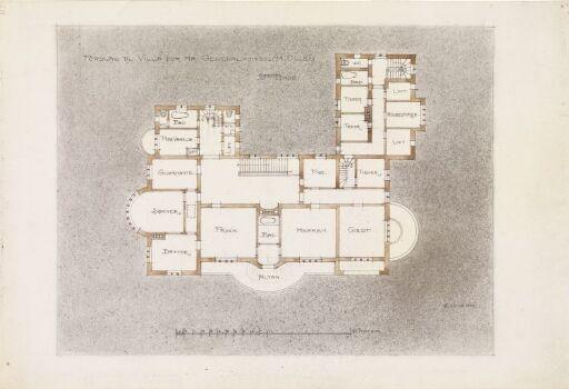 Villa Otium. Plan av 2. etasje