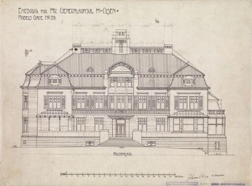 Villa Otium. Hovedfasade