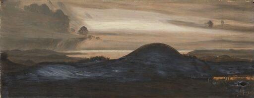 """Illustrasjon til Holger Drachmanns """"Elverkongen"""" i """"Troldtøj"""", København 1889-1890"""