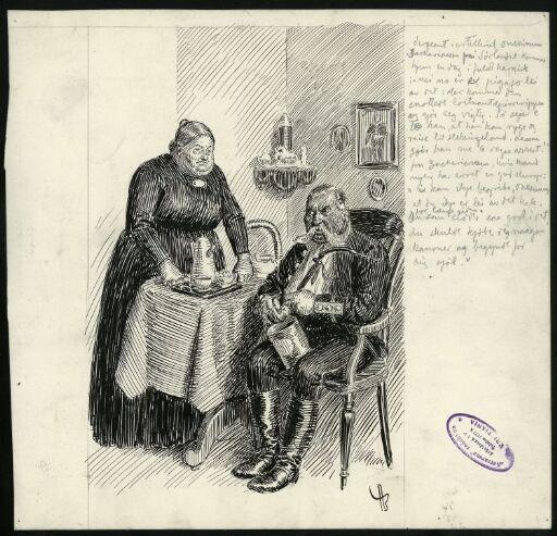 Artillery Sergeant Onesimus Zachariassen and his Wife