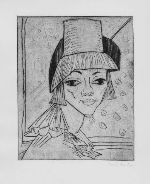 Girl with High Hat