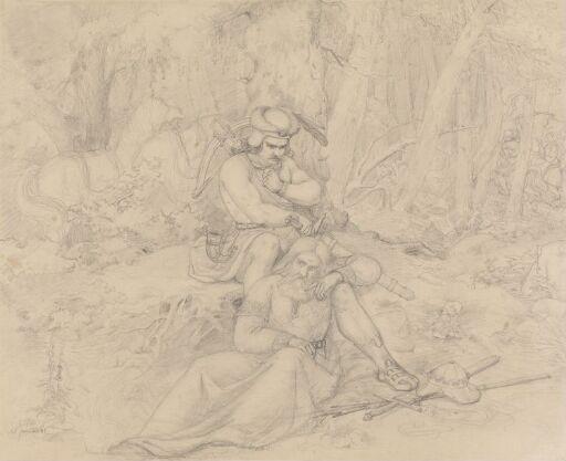Bueskytter og kriger i skogen