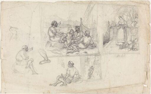 Figurscener med italienske motiver