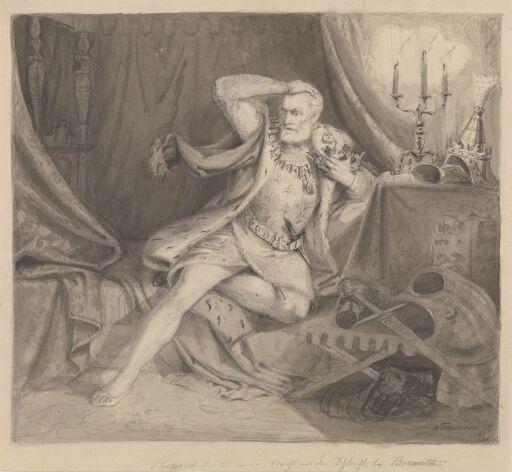 Richard III natten før slaget ved Bosworth