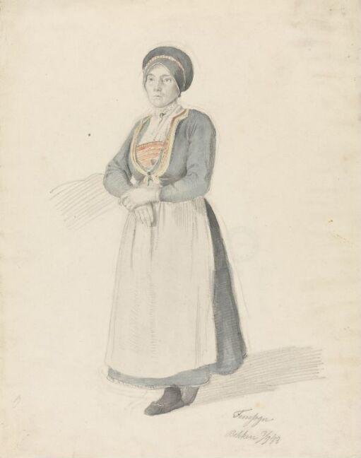 Stående kvinne i bunad