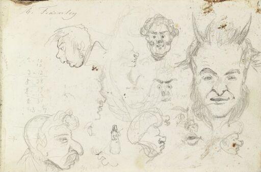 Karikerte ansikter; djevel
