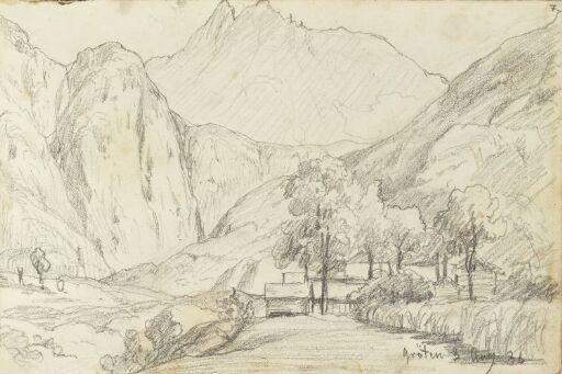Romsdalen mot Vingetindene, sett fra Grytten