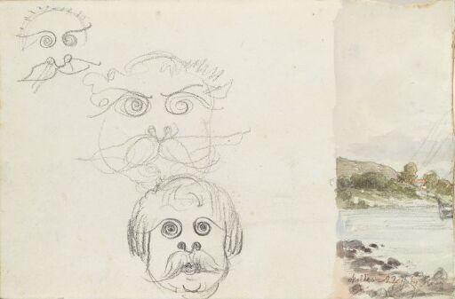 Karikerte ansikter; fra Molde (fragment)