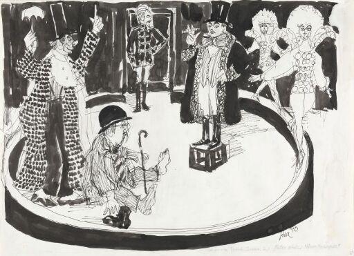 """Scene fra """"Herr Mockinpott"""" av Peter Weiss"""