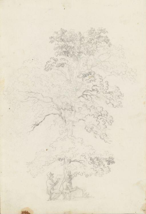 Kunstnere under et tre