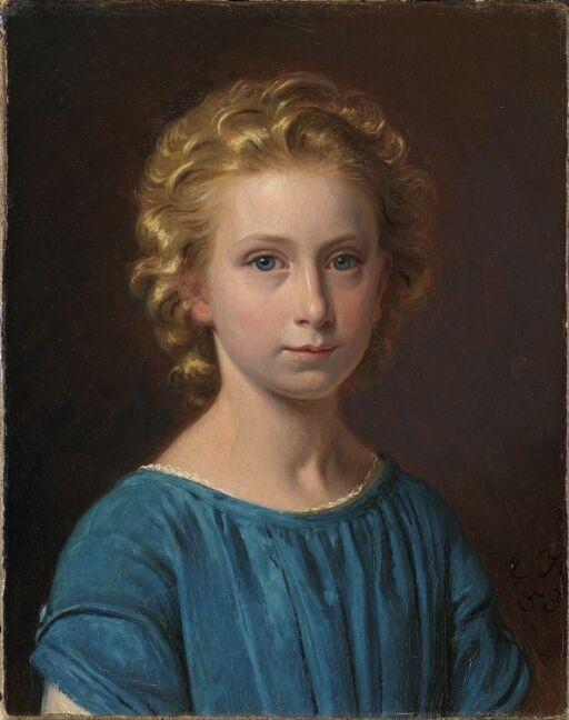 Margrethe Vullum som barn (f. Lehmann)