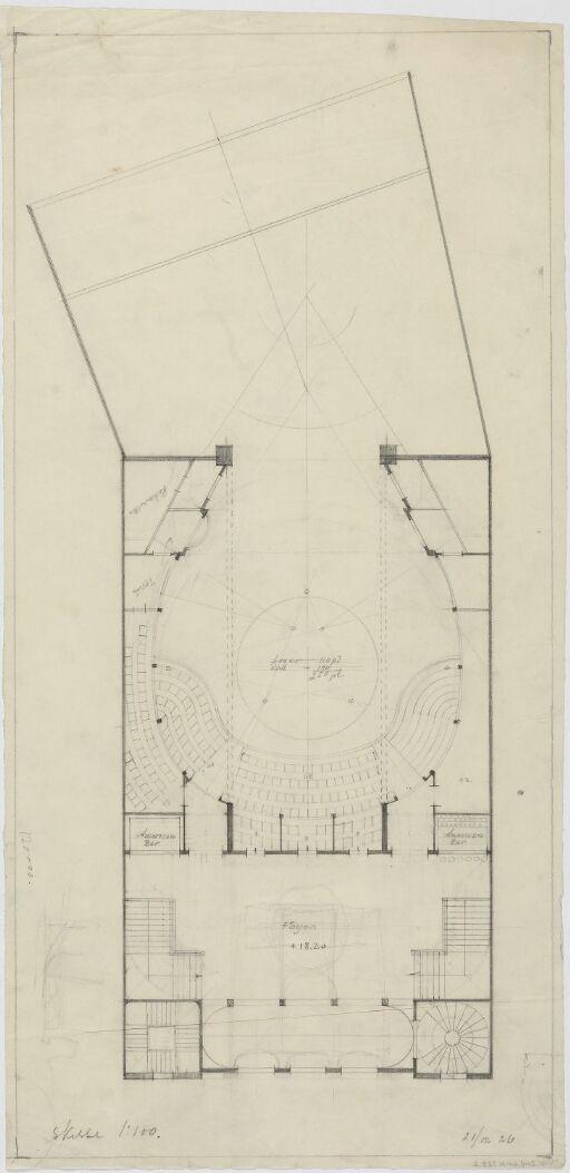 Det Nye Teater. Plan av 1. etasje