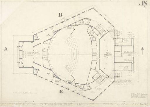 Ombygging av Colosseum teater. Plan.