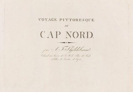 Voyage pittoresque au Cap Nord, tittelblad