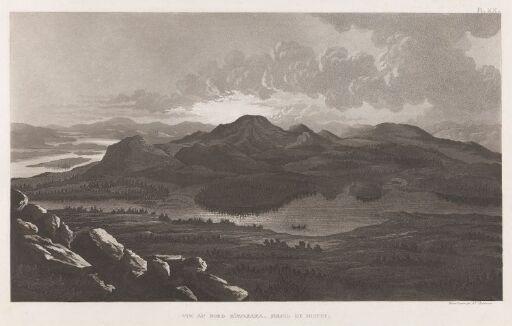 Utsikt mot nord fra Aavasaksa i midnattssol