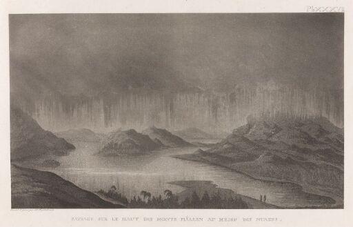 Utsyn fra toppen av Bæskades i tåke