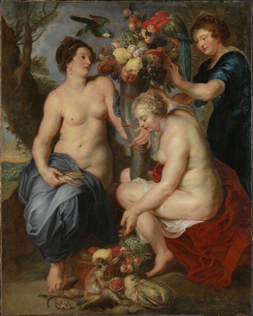 Ceres og to nymfer