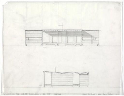 Sommerhus for Ragnar Underland. Fasade