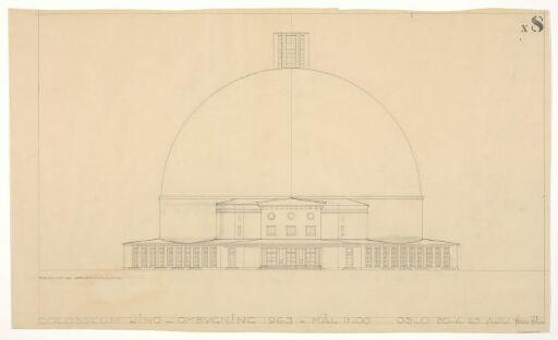 Ombygging av Colosseum teater. Fasade