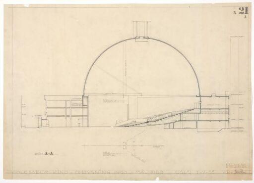 Ombygging av Colosseum teater. Snitt