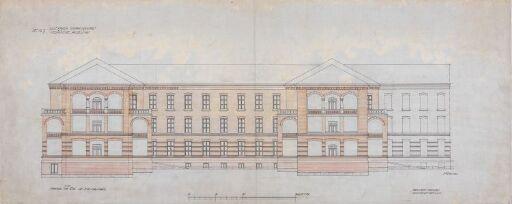 Ullevåls sykehusanlegg – Medisinsk avdeling og rekonvalesenshjem. Fasade