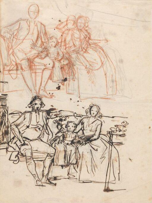 "Study for ""Peder Anker, his Wife Anna Elisabeth, née Cold, and their Daughter Karen"""