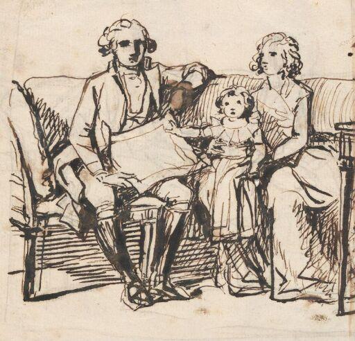 "Studies for ""Peder Anker, his Wife Anna Elisabeth, née Cold, and their Daughter Karen"""