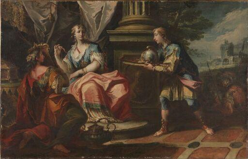 Kristus og den angrende synderinne. Kopi etter Rubens