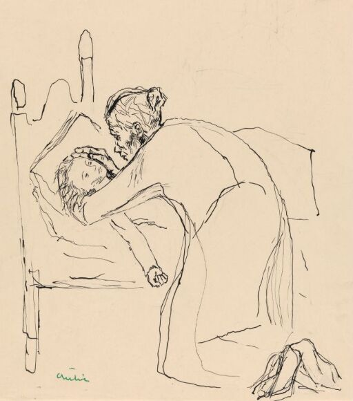 """Illustrasjon til M.A.Nexø, """"Pelle Erobreren"""""""