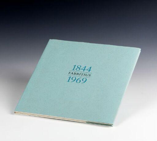 Jubileumsbok 1844 Fabritius 1969