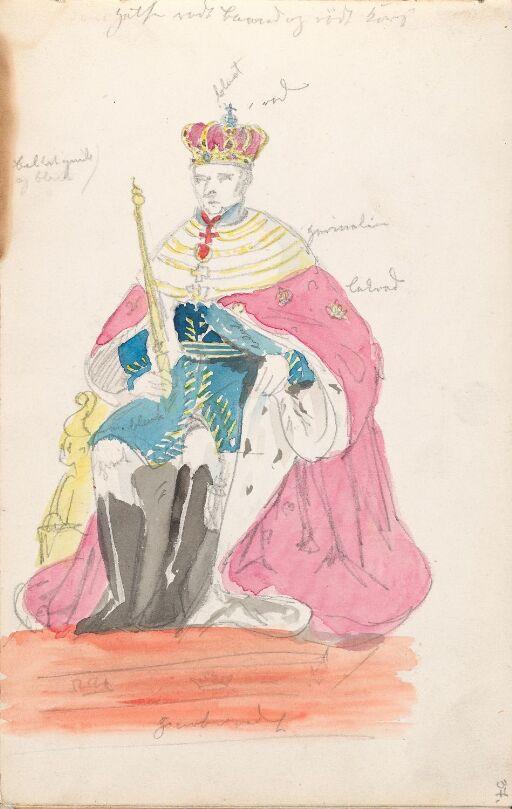Kong Karl III Johans kroning, etter Jacob Munch