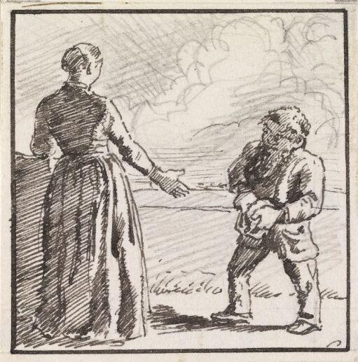 """""""Jeg fæster Dig! sagde hun og rakte Mandslingen Haanden..."""""""
