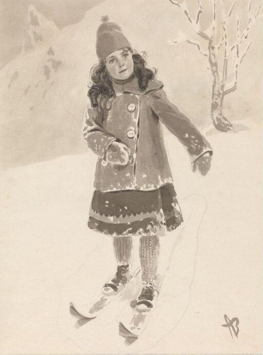 Jente på ski