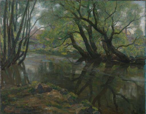 Gamle piletrær ved Akerselven