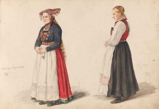 Brud fra Vossevangen; brudepike Guro Lødve