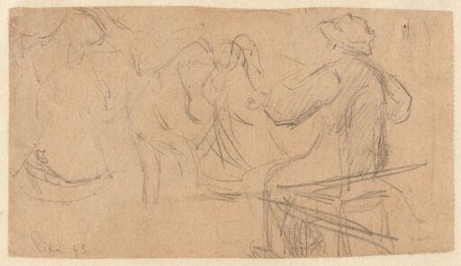 Sketch of Fiddlers and Dancers