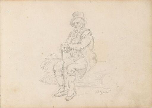 Sittende gammel mann, Pützfeld