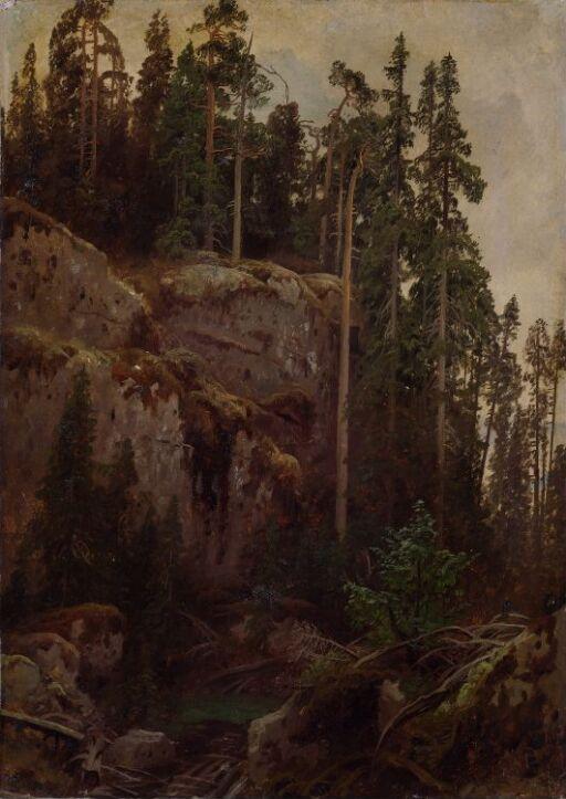 Landscape Study with a Precipice