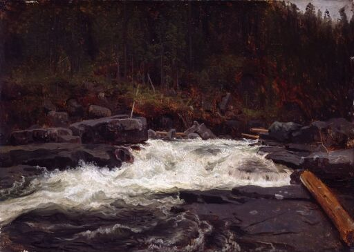 Waterfall in Telemark, Study for Inv.No. 427