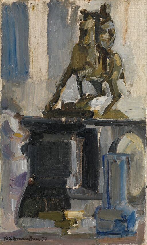 Small Still Life with Horseman