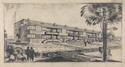 Rekkehus i Oddernesveien