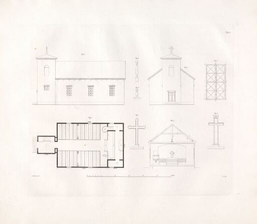 Designs for Church Buildings on the Norwegian Contryside. Plate 2
