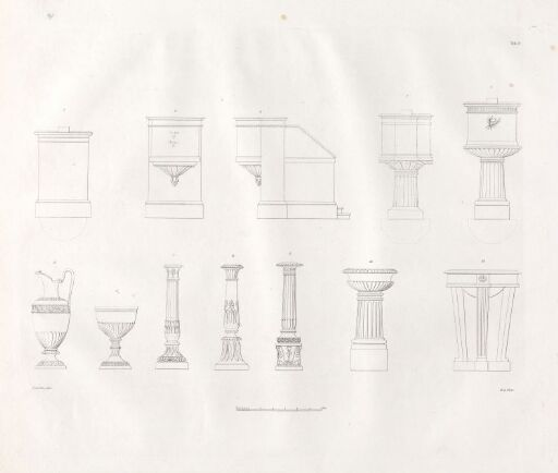 Designs for Church Buildings on the Norwegian Contryside. Plate 9
