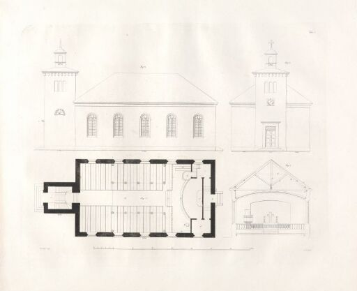 Designs for Church Buildings on the Norwegian Contryside. Plate 4