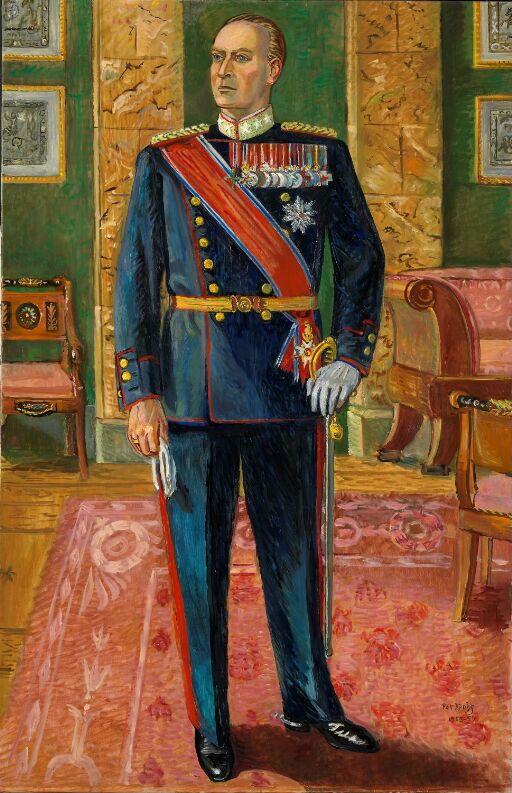 Portrett av kong Olav V